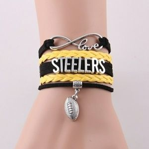 Jewelry - Pittsburgh Steelers Football Charm Bracelet